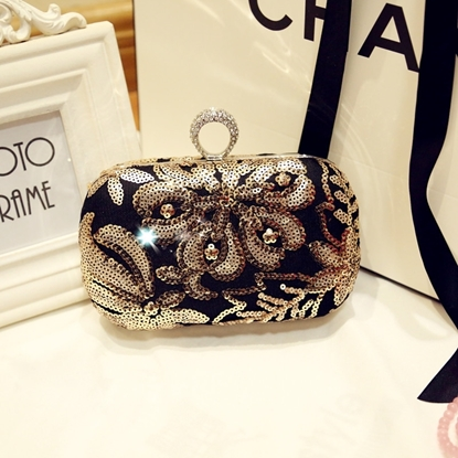 Picture of evening bag embroidered dress  Clutch handbags