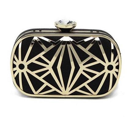 Picture of new handbag small clutch bag diamond package hollow metal mesh evening bag dress bag shoulder diagonal package