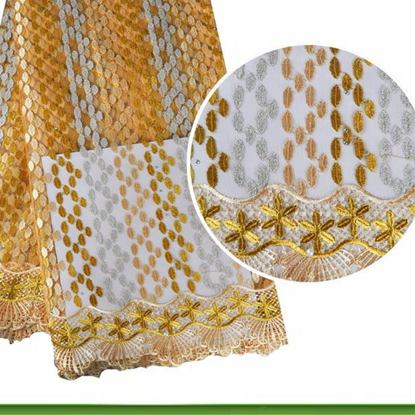 Picture of Many Colors African Tulle Lace Fabric with Stones for African Party 2017