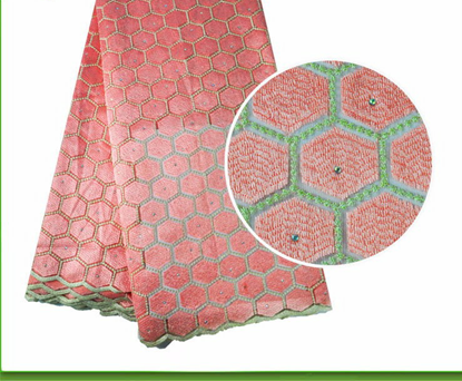 Picture of Latest French Net Lace Fabric 2017