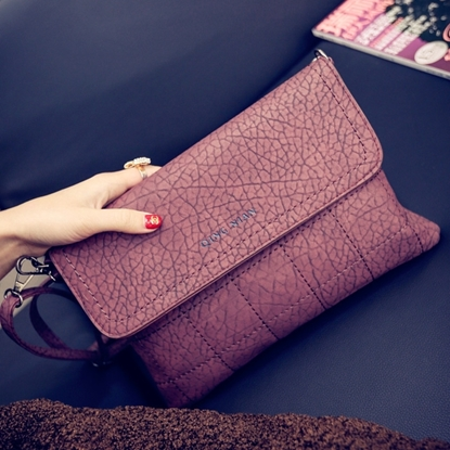 Picture of fashion embroidery thread envelopes simple messenger small bag shoulder bag