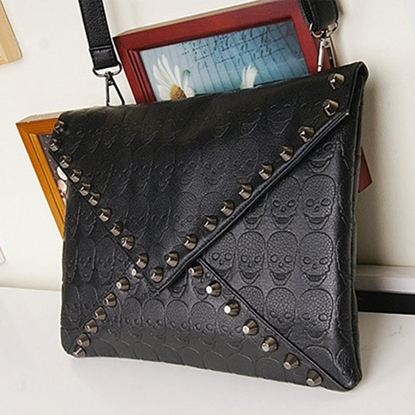 Picture of clutch hand bag retro Punk Skull envelope