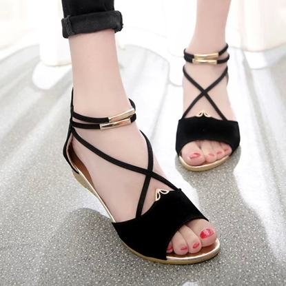 Picture of sandals fish mouth wedges sets foot metal zipper bag with girls with shoes