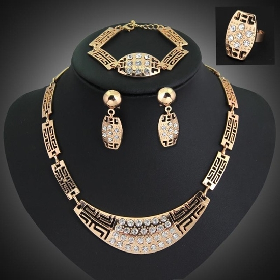 Picture of African 4-Peice Jewelry Set Gold