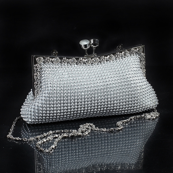 Picture of cat diamond aluminum banquet purse