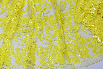 Picture of Lace Embroidery Fabric, French Lace, French Lace Fabric for Garment