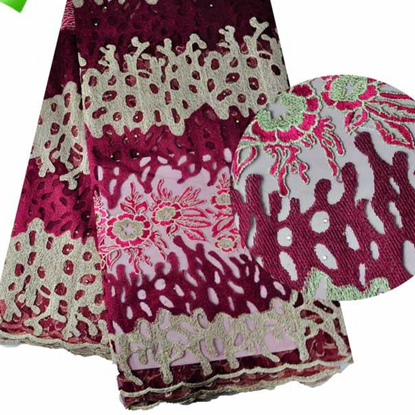 Picture of 2017 Latest Nigeria Style French Net Tulle Lace Fabric Fabric