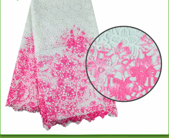 Picture of 2017 New Design 5 Yards African Cord Lace Fabric