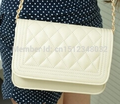 Picture of chain women messenger bags hot selling Ling plaid pu leather bag