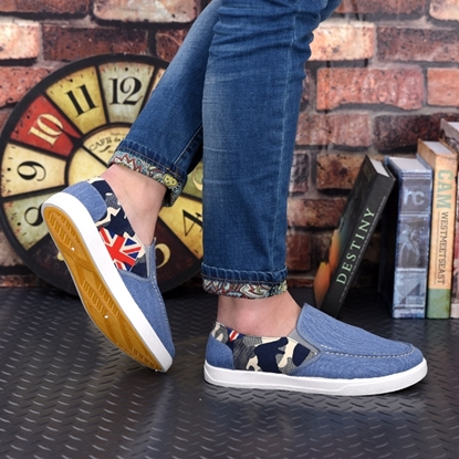 Picture of canvas shoes breathable Mens old shoes casual