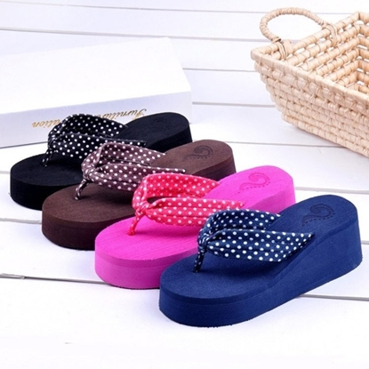 Picture of color cake bottom high heeled flat beach towel clip toe of slope with wholesale