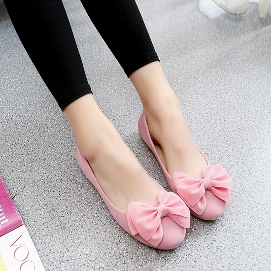 Picture of Doug shoes lat round shallow soft bottom  bow shoes women shoes tide