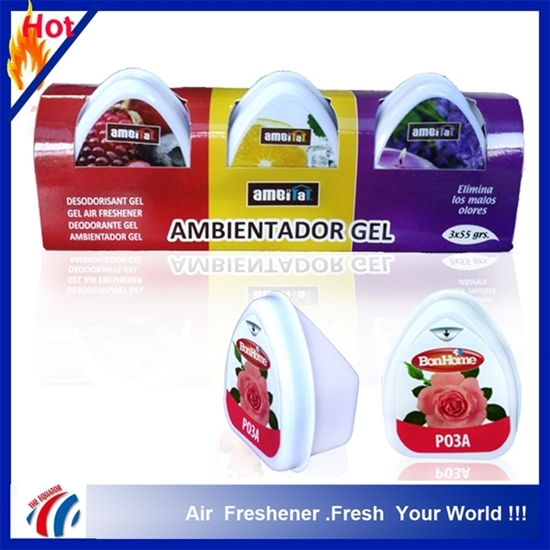 Picture of Hot 3 Scents Solid Gel air Freshner/ambientador gel air freshner