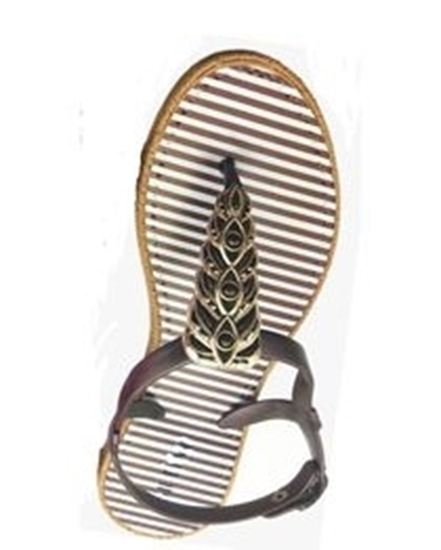 Picture of Stripped Sandal -Brown