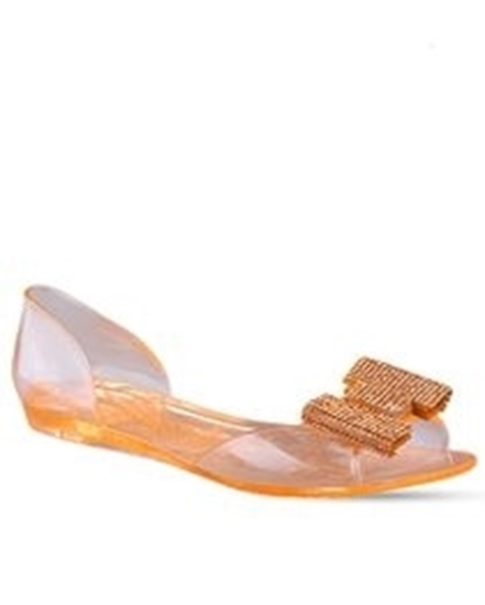 Picture of Jelly Flats with H studs- Nude