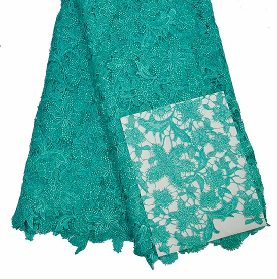 Picture of 1Hot Comfortable Aqua Guipure Lace Fabric Clothes Cord Lace For Africon